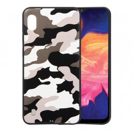 Husa silicon army Samsung A10, Alb0