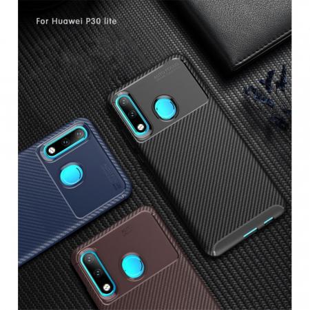 Husa silicon carbon 4 Huawei P20 lite - Albastru [0]