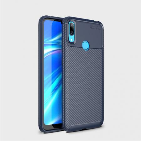 Husa silicon carbon 4 Huawei P30 lite - Albastru1