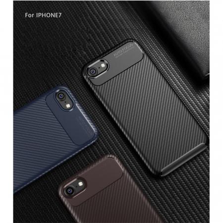 Husa silicon carbon 4 Iphone 8 - Negru0