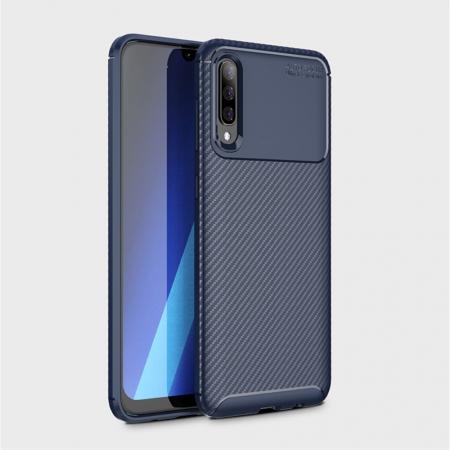 Husa silicon carbon 4 Samsung A50 - Albastru [1]