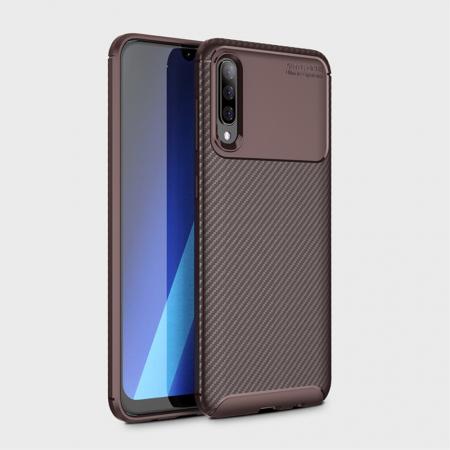 Husa silicon carbon 4 Samsung A70 - Maro [1]
