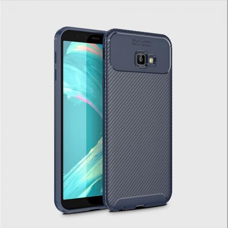 Husa silicon carbon 4 Samsung J4 plus (2018) - Albastru1