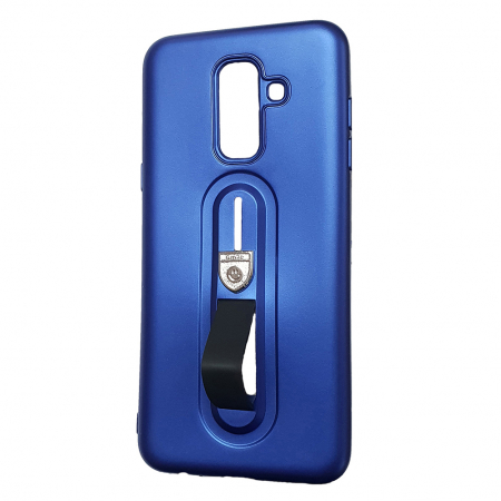 Husa silicon cu suport Samsung A6 plus (2018), Albastru [1]
