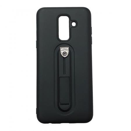Husa silicon cu suport Samsung A6 plus (2018), Negru [0]