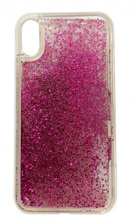 Husa silicon lichid-sclipici Iphone Xs Max -  5 culori0