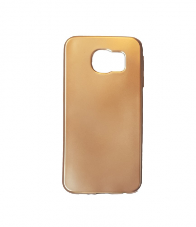 Husa silicon metalizat Samsung S6 Edge - Negru [3]