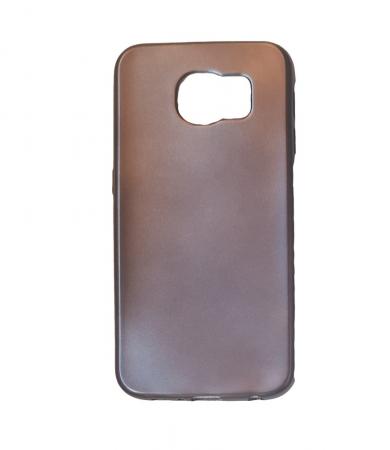 Husa silicon metalizat Samsung S6 Edge - Negru [0]