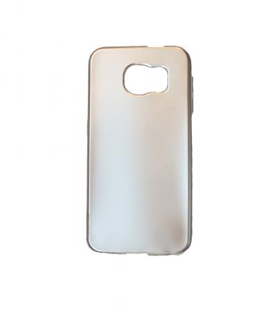 Husa silicon metalizat Samsung S6 Edge - Negru [2]