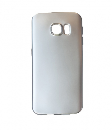 Husa silicon metalizat Samsung S7 Edge -Silver [0]