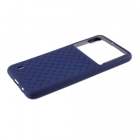 Husa silicon model piele Samsung A10 - Albastru1