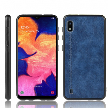 Husa silicon model piele Samsung A10 - Albastru2