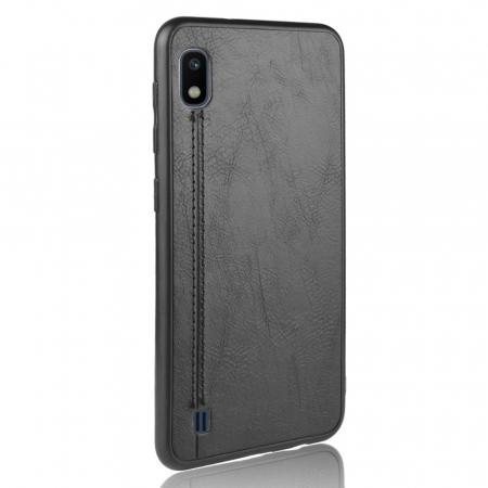 Husa silicon model piele Samsung A10 - Negru0