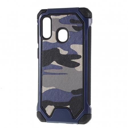 Husa army model camuflaj Samsung A20e - Albastru0