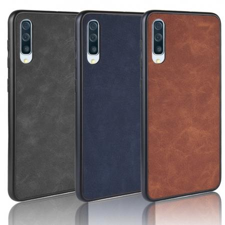 Husa silicon piele Samsung A50 - Maro [0]