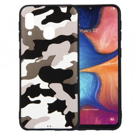 Husa silicon army Samsung A20e - Alb0
