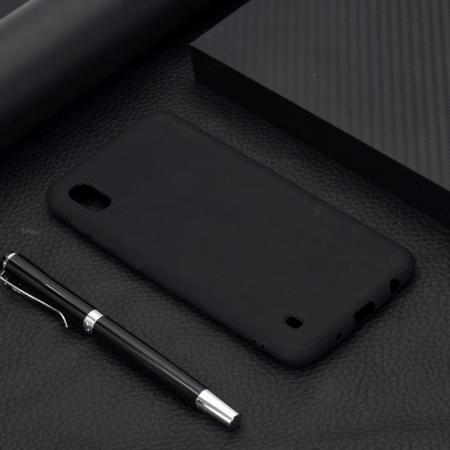 Husa silicon slim mat Samsung A10 - negru1