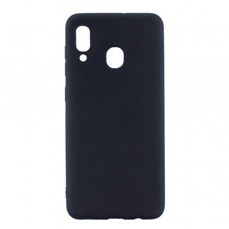Husa silicon slim mat Samsung A40 - negru [0]