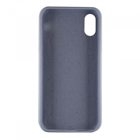 Husa silicon soft mat Iphone X/Xs - Gri Albastrui1