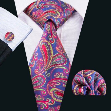 Set cravata + batista + butoni matase naturala model mov 1597 [1]