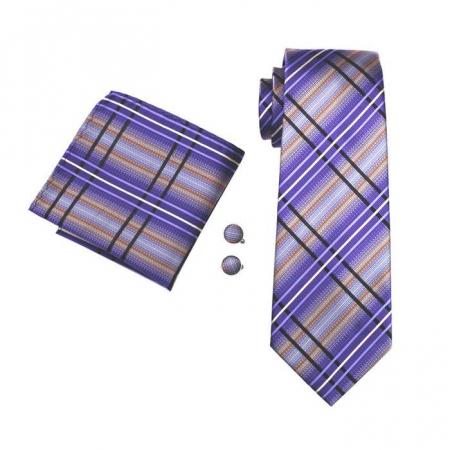 Set cravata + batista + butoni matase naturala model mov 457 [0]