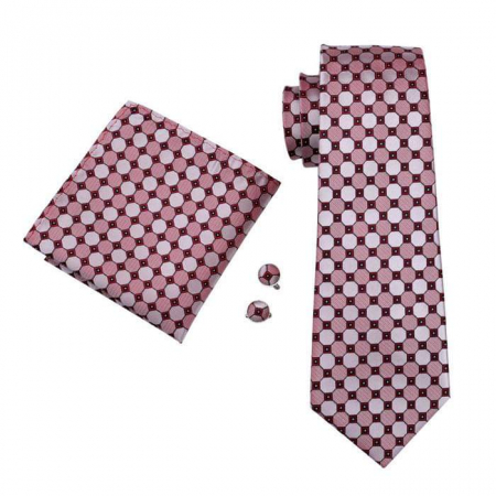 Set cravata + batista + butoni matase naturala model rosu 538 [0]