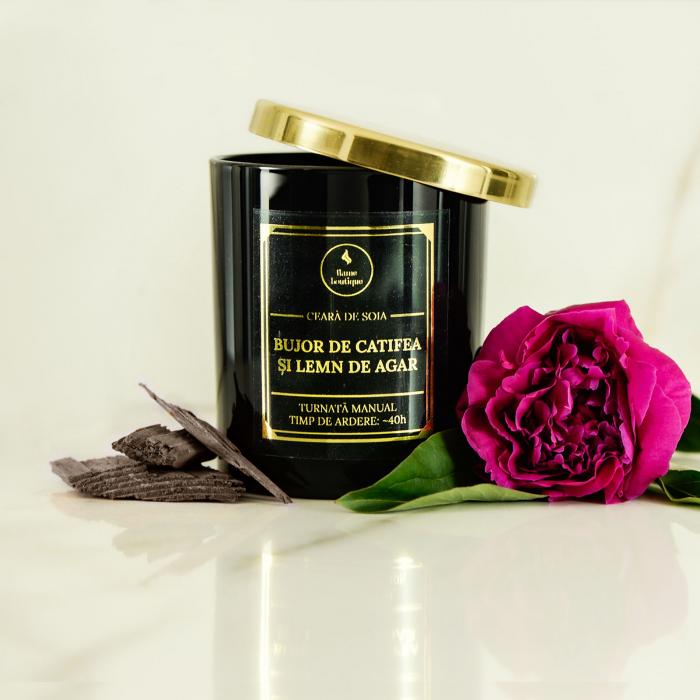 lumanare parfumata bujor de catifea si lemn de agar [1]