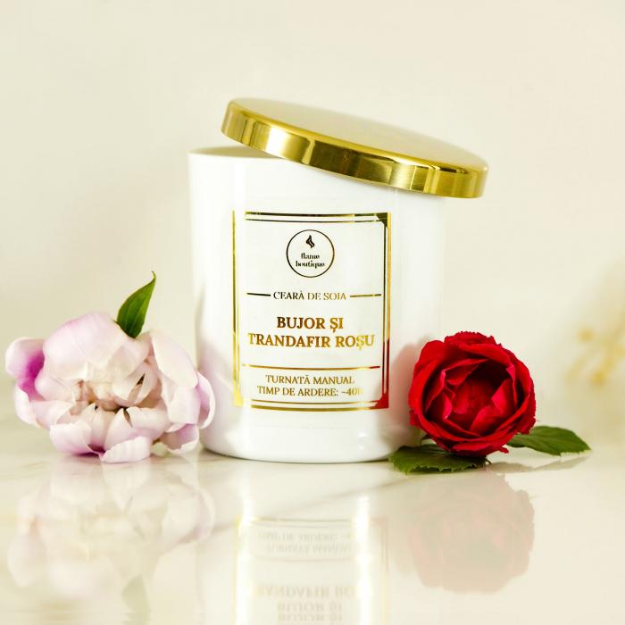 lumanare parfumata bujor si trandafir rosu [1]