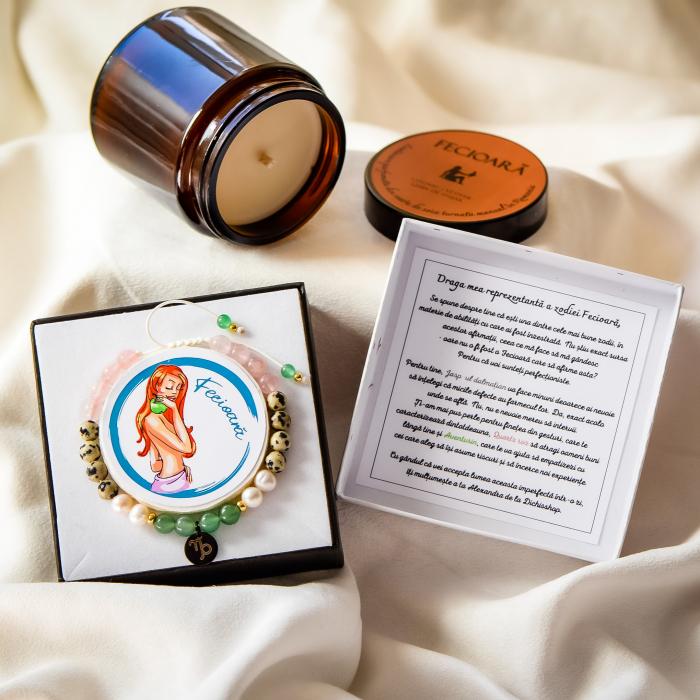 Fecioară - Lumânare Parfumată Și Brățară Semiprețioasă - Pachet Cadou Zodie [0]