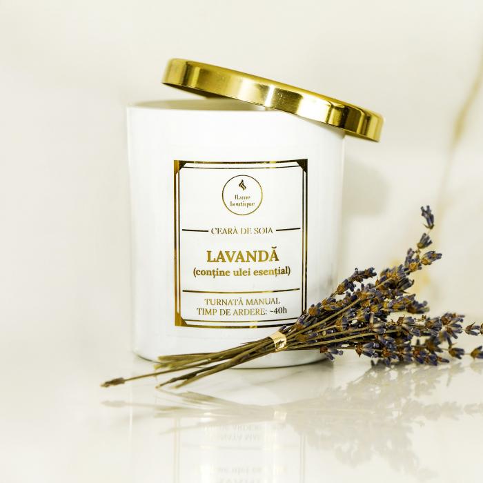 lumanare parfumata lavanda - contine ulei esential [1]