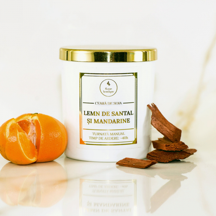 lumanare parfumata lemn de santal si mandarine [0]