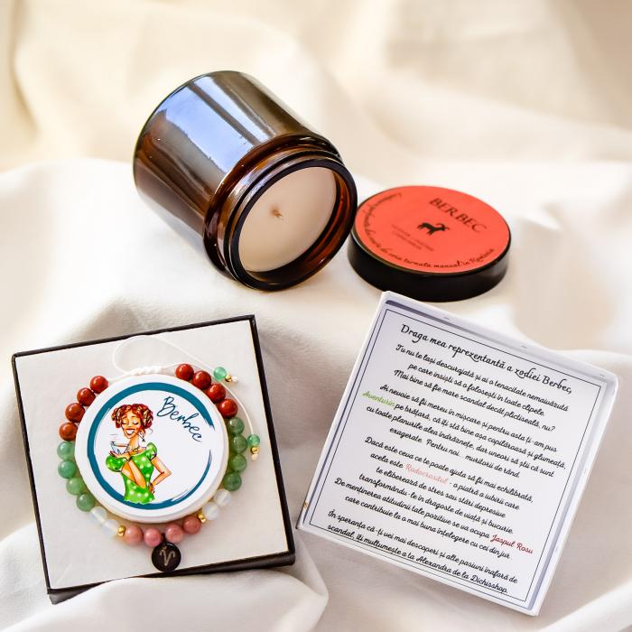 Berbec - Lumânare Parfumată Și Brățară Semiprețioasă - Pachet Cadou Zodie [0]