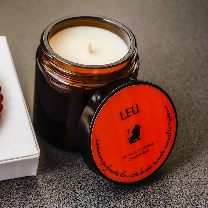 Leu - Lumânare Parfumată Și Brățară Semiprețioasă - Pachet Cadou Zodie [3]