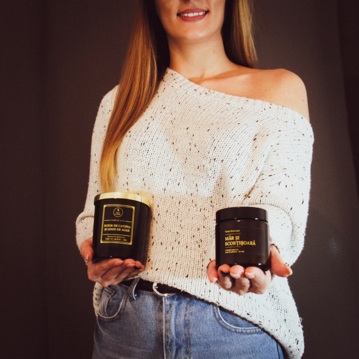 Pachet 3 lumanari parfumate Ambra 250 gr. [2]
