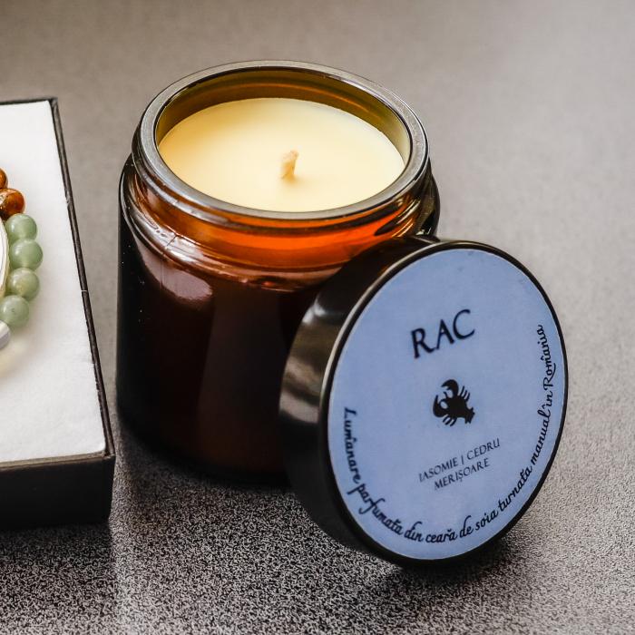 Rac - Lumânare Parfumată Și Brățară Semiprețioasă - Pachet Cadou Zodie [3]