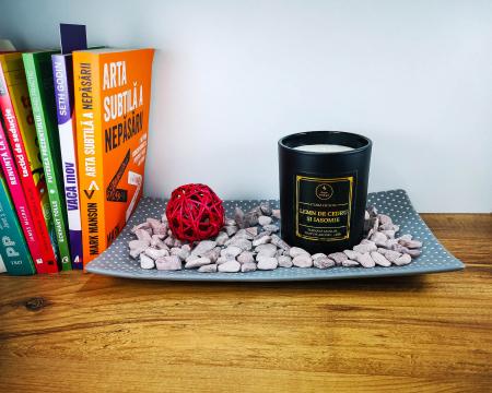 Lumânare parfumată din ceară de soia Lemn de cedru și iasomie | Premium Negru3
