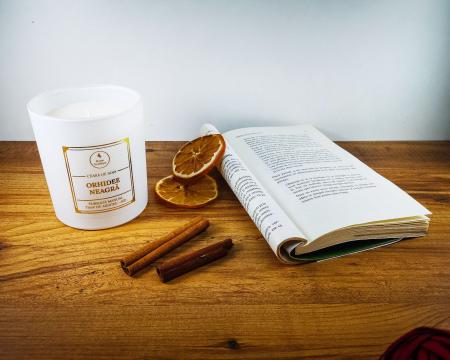 Lumânare parfumată din ceară de soia Orhidee neagră | Premium Alb3