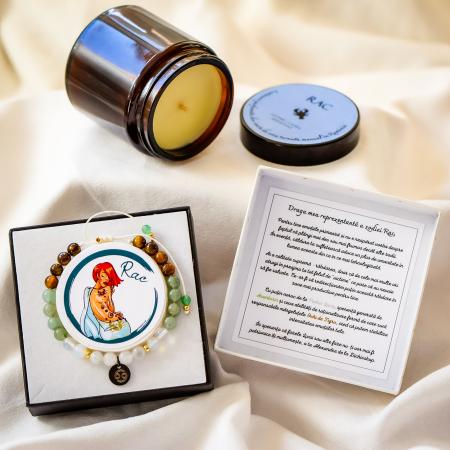 Rac - Lumânare Parfumată Și Brățară Semiprețioasă - Pachet Cadou Zodie [0]