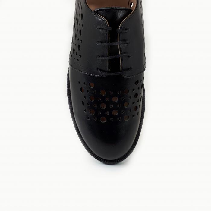 Pantofi dama casual perforati din piele naturala COD-714 3
