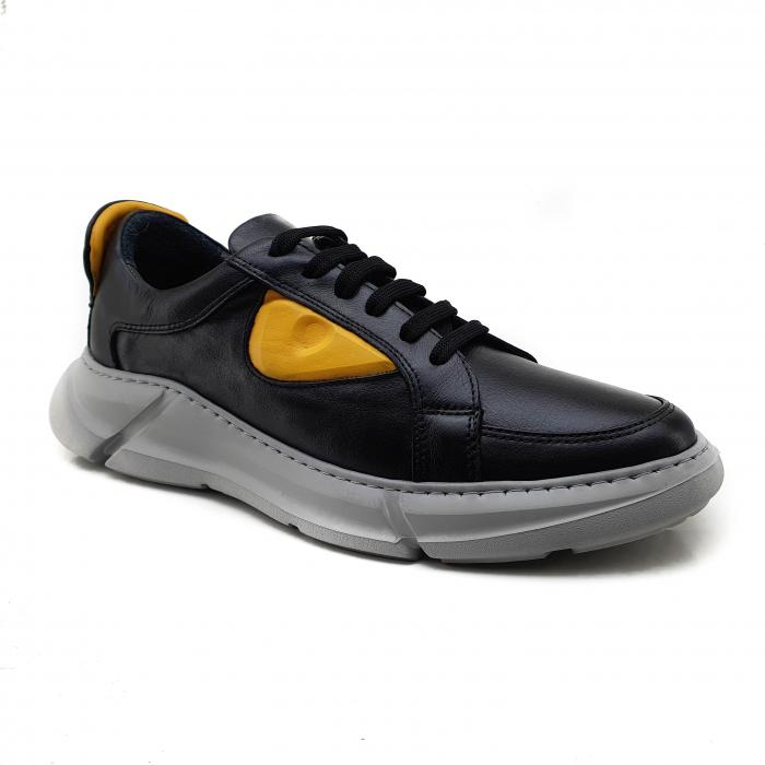 Pantofi barbati casual din piele naturala COD-811 - Flex-Shoes [3]