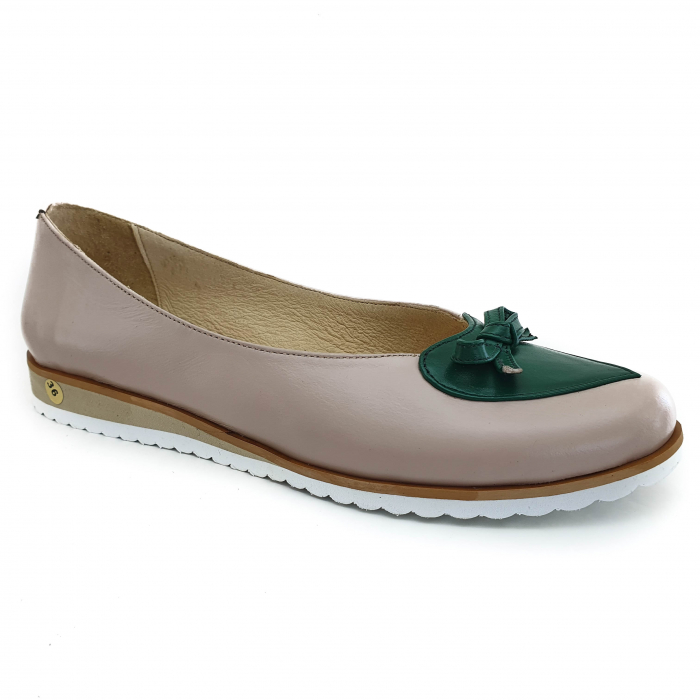 Pantofi dama balerine confort din piele naturala COD-873 [0]