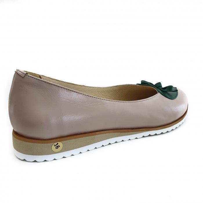 Pantofi dama balerine confort din piele naturala COD-873 [2]