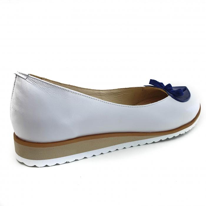 Pantofi dama balerine confort din piele naturala COD 2025 B+A+BL 2