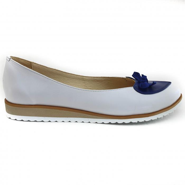Pantofi dama balerine confort din piele naturala COD 2025 B+A+BL 1