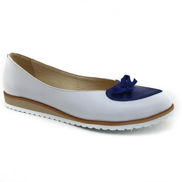 Pantofi dama balerine confort din piele naturala COD 2025 B+A+BL 0