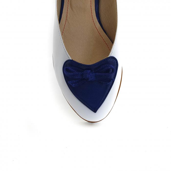 Pantofi dama balerine confort din piele naturala COD 2025 B+A+BL 3