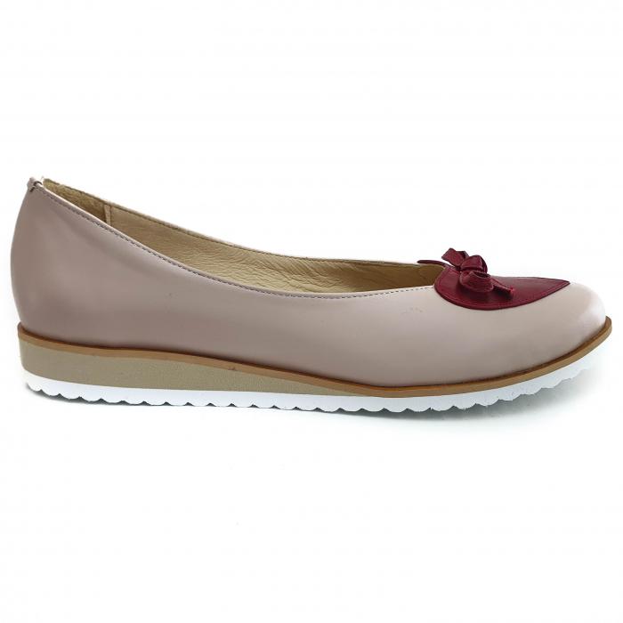 Pantofi dama balerine confort din piele naturala COD-874 [1]