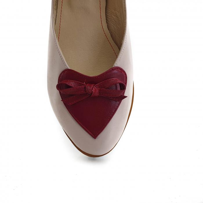 Pantofi dama balerine confort din piele naturala COD-874 [3]