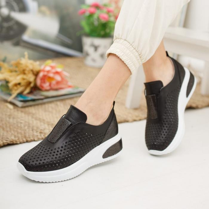 Pantofi dama casual confort din piele naturala COD-819 1
