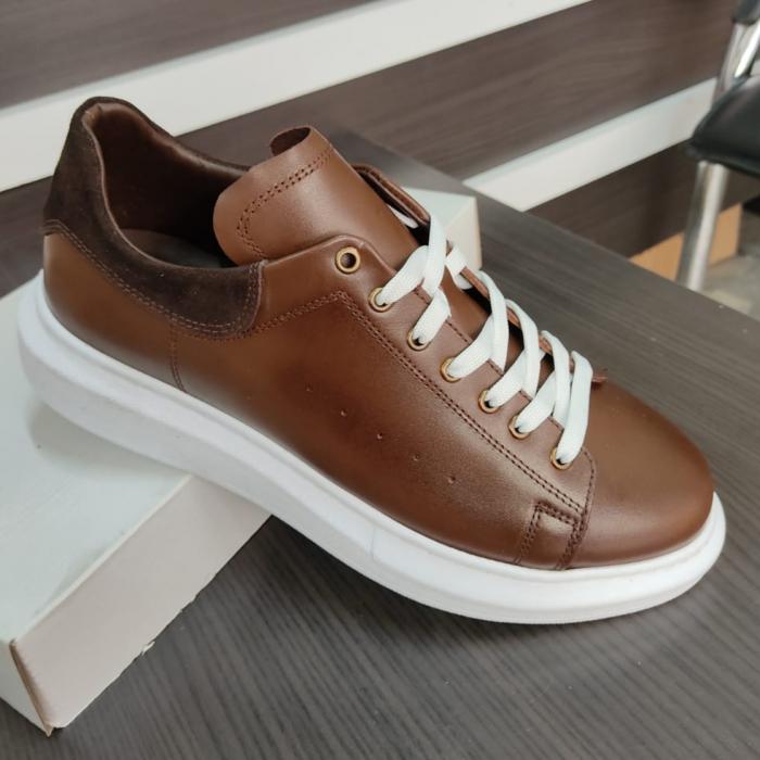 Pantofi sport de bărbați din piele naturala COD-721 1